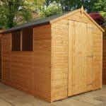 8' x 6' Windsor Shiplap Large Door Wooden Garden Shed
