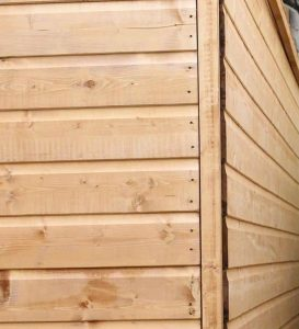 8' x 6' Windsor Shiplap Reverse Apex Shed Cladding