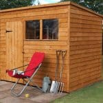 8' x 6' ft Shed-Plus Overlap Premium Pent Wooden Shed