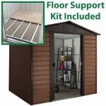 8' x 6'5 Yardmaster Glencoe Metal Shed 86WGL+ With Floor Support Kit