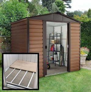 8' x 6'5 Yardmaster Glencoe Metal Shed 86WGL+ With Floor Support Kit Included