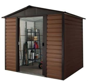 8' x 6'5 Yardmaster Glencoe Metal Shed 86WGL+ With Floor Support Kit Side View