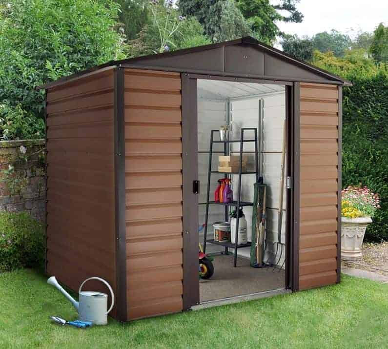 8' x 6'5 Yardmaster Glencoe Metal Shed 86WGL+ With Floor Support Kit