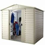 8' x 6'6 Yardmaster 86SL Shiplap Metal Shed Open Door
