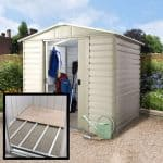 8' x 6'6 Yardmaster Shiplap Metal Shed 86SL+ With Floor Support Kit