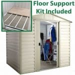 8' x 6'6 Yardmaster Shiplap Metal Shed 86SL+ With Floor Support Kit Included