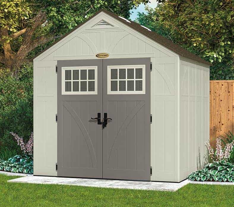 8' x 7' Suncast New Tremont Four Apex Roof Shed