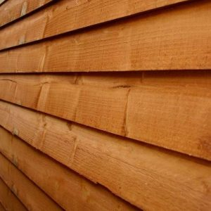 8 x 8 Overlap Apex Wooden Garden Shed cladding wall