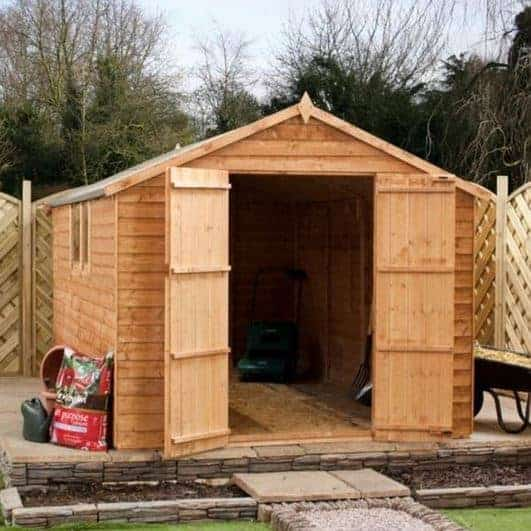 8 x 8 Overlap Apex Wooden Garden Shed