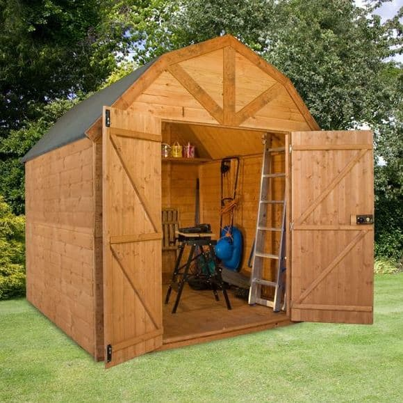 8 x 8 Premier Groundsman Dutch Barn Shed (No Windows)