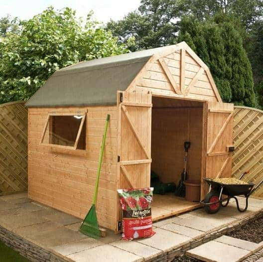 8 x 8 Waltons Dutch Barn Tongue and Groove Apex Garden Shed