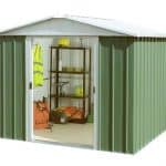 8' x 9' Yardmaster Green Metal Shed 89GEYZ Left Side View