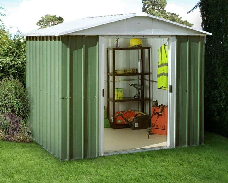 8' x 9' Yardmaster Green Metal Shed 89GEYZ