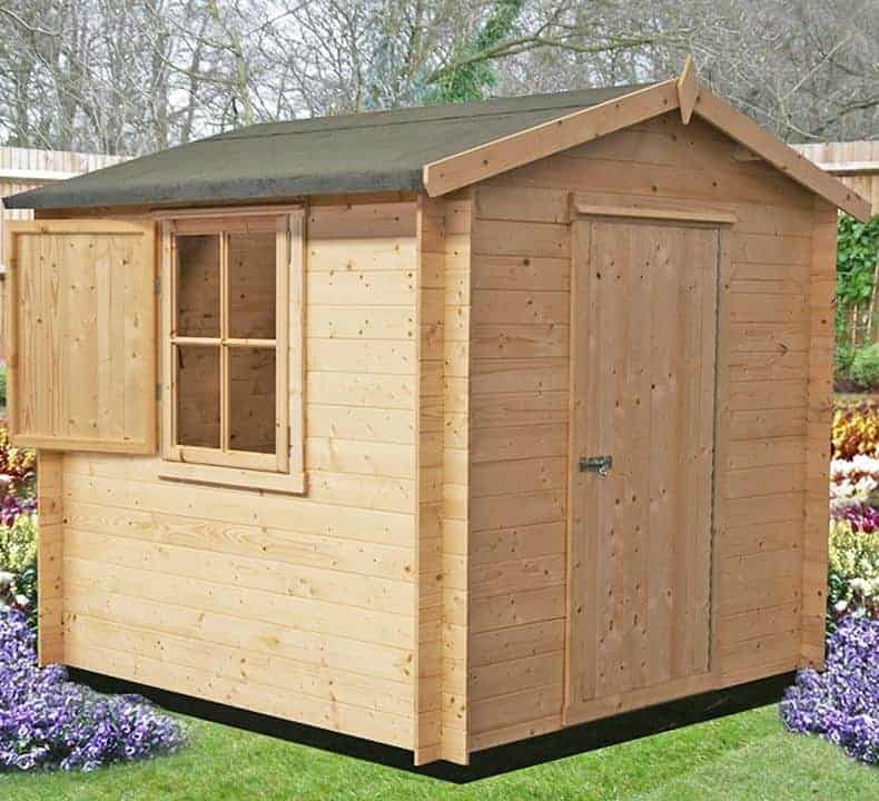 8'10 x 8'10 GardenStyle Camelot Log Cabin
