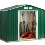 8'7 x 6' Store More Rosedale Metal Shed Double Doors Open