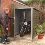 8'8 x 4'6 Trimetals Titan 940 Motorcycle Metal Garage Open Doors