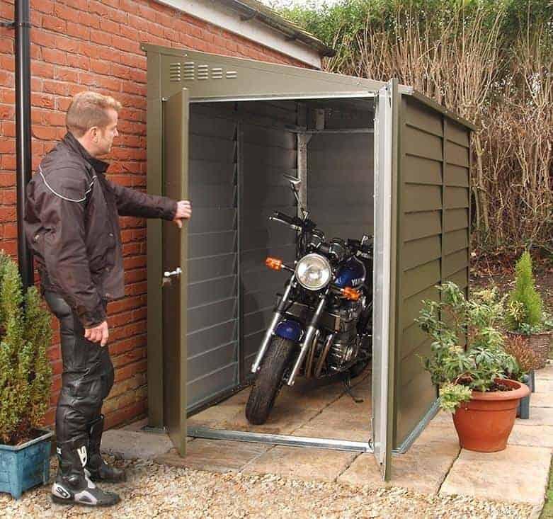 8 8 X 4 6 Trimetals Titan 940 Motorcycle Metal Garage What Shed