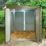 8'8 x 6' Trimetals MCG960 Motorcycle Metal Garage Empty Inside