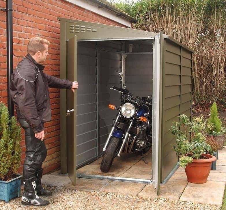 8 8 X 6 Trimetals Mcg960 Motorcycle Metal Garage What Shed