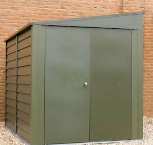 8'8 x 6' Trimetals Titan 960 Pent Metal Shed Closed Doors