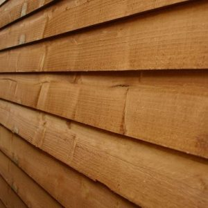 8x6 Waltons Overlap Pent Wooden Shed Cladding