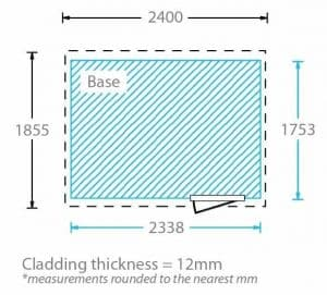 8x6 Waltons Overlap Pent Wooden Shed Cladding Thickness