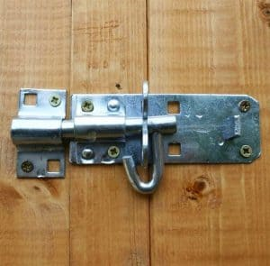 8x6 Waltons Overlap Pent Wooden Shed Padlockable Feature
