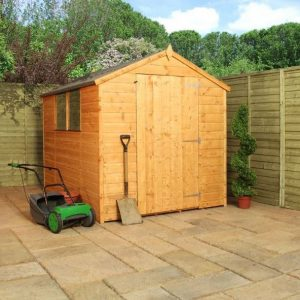 8x6 Waltons Tongue and Groove Large Door Apex Wooden Shed Closed Door