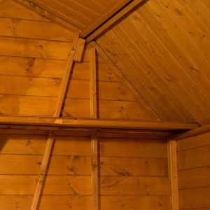 8x8 Waltons Dutch Barn Tongue and Groove Apex Garden Shed Ceiling