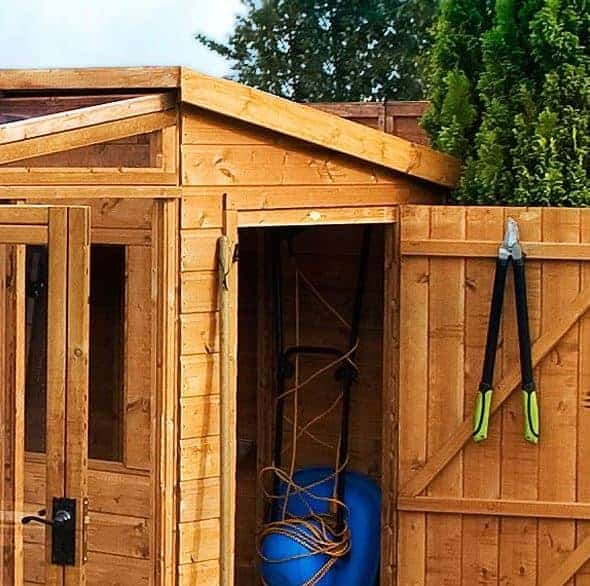 8 x 8 Waltons Tongue and Groove Combi Greenhouse and Wooden Shed - What Shed