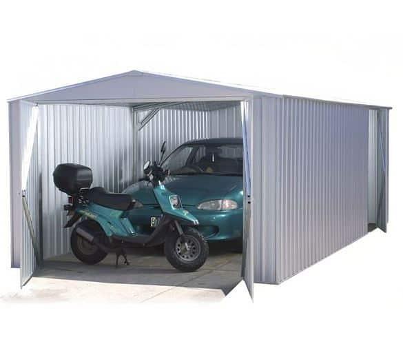 9' 10 x 19' 8 Waltons Titanium Easy Build Apex Metal Garage