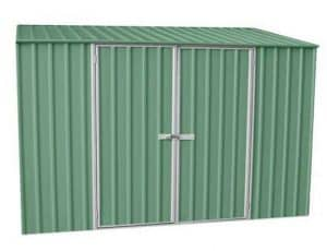 9' 10 x 5' Waltons Pale Eucalyptus Easy Build Pent Metal Shed
