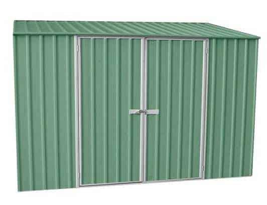 9' 10 x 5' Waltons Pale Eucalyptus Easy Build Pent Metal Shed