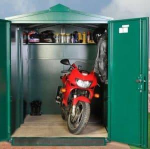 9 X 5 ASGARD MOTORCYCLE SECURE STORAGE GARAGE Front