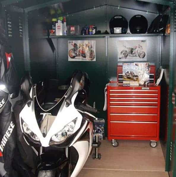 9 x 5 asgard motorcycle secure storage garage what shed. Black Bedroom Furniture Sets. Home Design Ideas