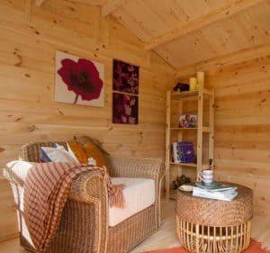 9' x 13'ft Berkshire Thatcham 34mm Log Cabin Cladding