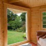 9' x 13'ft Berkshire Thatcham 34mm Log Cabin Windows
