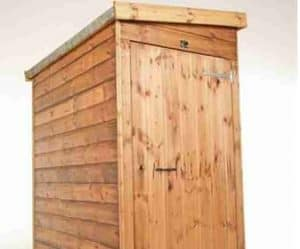 9' x 4' Traditional Pent Tool Store Shed Closed Door