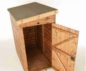 9' x 4' Traditional Pent Tool Store Shed Open Door