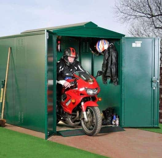 9 X 5 Asgard Motorcycle Secure Storage Garage What Shed