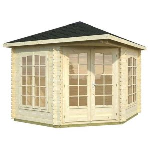 9' x 9' Palmako Melanie 28mm Log Cabin