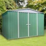 9'10 x 12' Absco Regent 5PE Green Metal Shed
