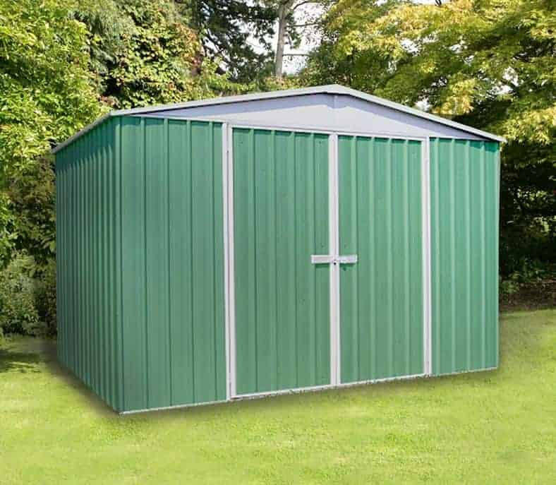 9'10 x 12' Absco Regent 5PE Green Metal Shed