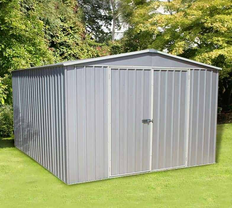 10' x 12' Lotus Anthracite Grey Apex Metal Shed (3.07m x 3.71m)
