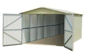 9'10 x 17'2 Yardmaster 1017 Metal Garage Wide Open Doors