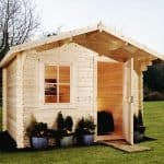 9'10 x 7'10 Alpine Davos 28mm Log Cabin