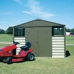 9'10 x 8' Trimetals Titan 108 Metal Shed Double Door Closed