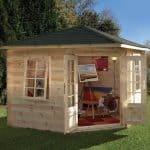 9'10 x 9'10 Berkshire Woodcote Log Cabin