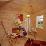 9'10 x 9'10 Berkshire Woodcote Log Cabin Inside View