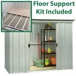 9'11 x 3'11 Yardmaster Pent Metal Shed 104PZ+ With Floor Support Kit Included